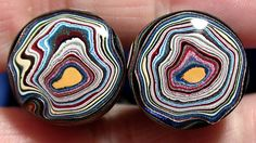 Solid+Detroit+Agate+/+Fordite+Cabochon+++MATCHED+PAIR+by+suzybones,+$35.98