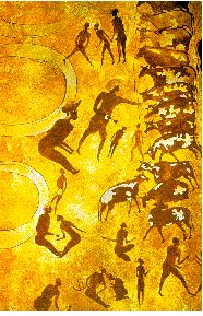 cave painting from the Tassili-n-ajjer.  From what is known as the Bovidian phase.