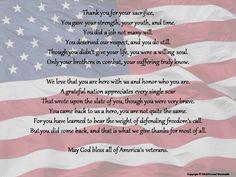 Celebration of Life Poetry Print Prayer Poem for Funeral Veterans Day Poem, Happy Veterans Day Quotes, Veterans Day Thank You, Veterans Day Activities, Veterans Day Speeches, Letters To Veterans, Veterans Day Photos, Honor Veterans, Work Activities