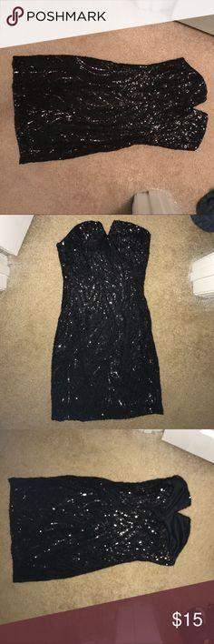 Charlotte Russe black mini Charlotte Russe black mini dress - sequence- worn once. Size Medium. Perfect condition. Charlotte Russe Dresses Mini