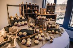 A cupcake display for our brides who don't want a traditional wedding cake.