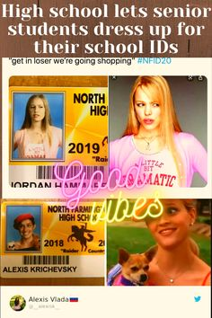 North Farmington High School in Detroit, Michigan, wanted to have a little fun with their school IDs so students decided to get dressed up as some of their favorite pop culture icons for their photos. And the results were hilarious. School Id, High School Seniors, Aesthetic Words, Flower Aesthetic, Post Workout Hair, Mercedes C63 Amg, Senior Student, Vegetable Garden Planner, Velma Dinkley