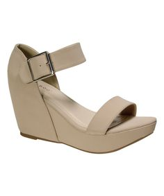 Look at this Bamboo Nude Renata Sandal on #zulily today!