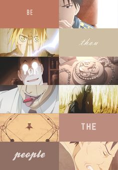"dearmrsawyer:  fma meme | seven quotes {4/7}  ""Alchemists be thou for the people. That's their crock of a slogan."""