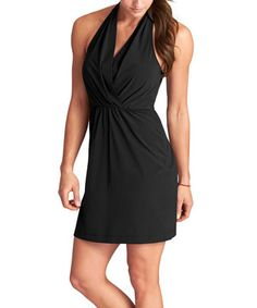 This Athleta Black Go Anywhere Halter Dress by Athleta is perfect! #zulilyfinds