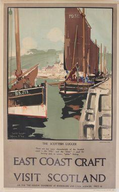 East coast craft - Visit Scotland - The scottish lugger - 1928 - (Frank Mason) -