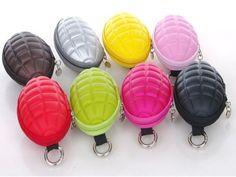 XIUS-Fashion-Nylon-Rare-Grenade-Shape-Mens-Womens-Coin-Wallet-Key-Purse-Bag