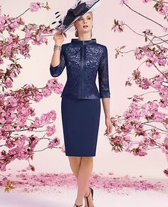 Two Pieces Mother of The Bride Outfit Jacket Lace Evening Dresses Mother Dress