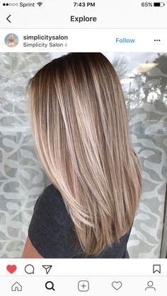 Bayalage Colored 38 Best Balayage Hair Color Ideas For 2019 coloring Balayage Straight Hair, Balayage Hair Blonde, Brown Blonde Hair, Honey Balayage, Medium Blonde, Bayalage, Hair Medium, Brunette Hair, Haircolor