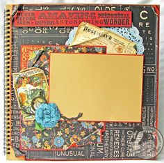 Olde Curiosity Shoppe Layout by Gloria Stengel also using some Le Cirque! Love this! #graphic45 #layouts #scrapbooking