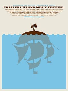 Treasure Island Music Festival Poster / The Small Stakes design