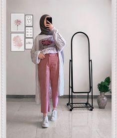 Hijab Fashion Summer, Modern Hijab Fashion, Korean Girl Fashion, Hijab Fashion Inspiration, Winter Fashion Outfits, Muslim Fashion, Modesty Fashion, Hijab Style, Hijab Chic