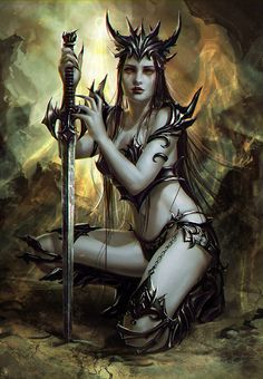 Warriors nude fantasy women black