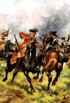 Payne, Harry (1858)- Battle of Dettingen- June, 1743 (War of Austrian Succession)