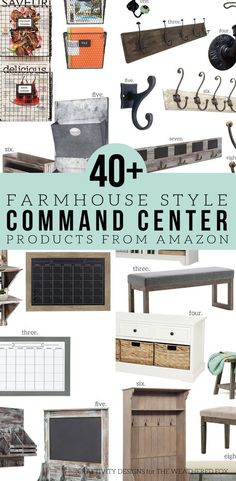 How to Make a Farmhouse Style Command Center – The Weathered Fox – Office organization Farmhouse Desk, Farmhouse Style Kitchen, Home Decor Kitchen, Kitchen Office, French Farmhouse, Kitchen Tips, Kitchen Ideas, Command Center Kitchen, Family Command Center