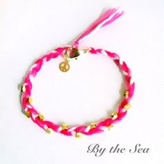 pink mix color bread bracelet by BytheSeajewel on Etsy, ¥1500
