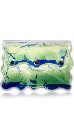 Christopher Kane Aqua gel-filled PVC clutch