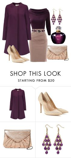 """""""156"""" by vicinogiovanna ❤ liked on Polyvore featuring Goat, Gianvito Rossi, Urban Expressions, Palm Beach Jewelry, Christian Dior, chic, Glamour, glitter and coats"""