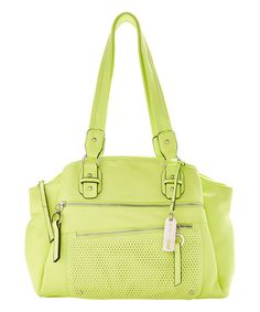 Another great find on #zulily! Electric Green Liverpool Satchel #zulilyfinds