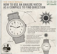 MEN'S ESSENTIALS : Your cell phone's dead, and you have to get somewhere in an unfamiliar place? As long as you know which direction you need to head, your watch will point you the way.  ---> FOLLOW US ON PINTEREST for Style Tips, our current SALES, men's Wardrobe essentials etc... ~ VujuWear