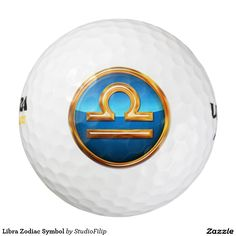Libra Zodiac Symbol Pack Of Golf Balls | 30% OFF Spooktacular Essentials: coasters, favor boxes, wine charms, serving trays, posters, tablecloths, table runners, plates, platters, packs of cake pops, packs of cookies, chocolate boxes, frosting rounds, invitations, greeting cards, photo cards, postcards, and/or cheese boards - USE Code ZSPOOKYSCARY | 15% Off All Other Zazzle Products. | Valid through October 8, 2015 at 12:59:59 PM PT