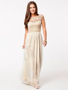 Hot Sell Women Summer Sleeveless White Top Crochet Sexy Lace Chiffon Maxi Dress Vestidos free shipping