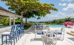 Bumpers Nest een luxe 6 slaapkamer vakantie villa met privé zwembad te Montego Bay Jaimaica Caribisch gebied.