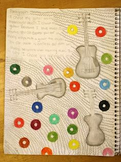 Sketchbook assignment for Middle School from Sketchbook Number 1   Dali's Moustache