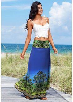 Visite meu site...   Saia longa azul  ZOOM  http://imaginariodamulher.com.br/look/?go=2eYGUWX