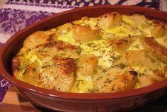 Retete Culinare - Budinca de cartofi cu branza si smantana