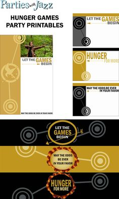 Hunger Games Free Party Printables