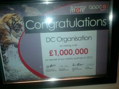 Certificate of Excellence to DC Organisation for Charity Fundraising