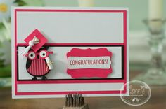 Lorrie's Card using Stampin' Up Owl and Decorative Label Punch