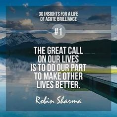 Robin Sharma is one of world's top leadership experts. Motivational Quotes Wallpaper, Motivational Posters, Inspirational Quotes, Wisdom Quotes, Words Quotes, Life Quotes, Quotes Quotes, Amazing Quotes, Best Quotes