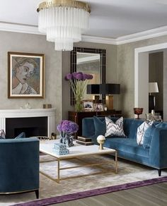Pops of teal furniture pieces to glam up an otherwise neutral room - All For Decoration Living Room Interior, Home Living Room, Living Room Designs, Living Room Decor, Apartment Interior, Design Salon, Home Design, Home Interior Design, Luxury Interior