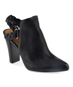 Look at this Corso Como Black Williamsburg Nappa Leather Bootie on #zulily today!