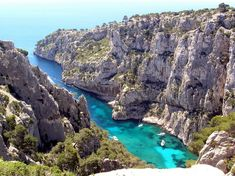 The Cliffs of Casis - French Riviera, renowned for white cliffs, scientific harbors and wines.