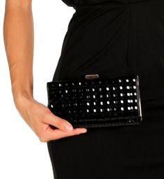 Black Gemstone Clutch