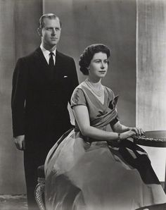 """houseofwindsor: """" Queen Elizabeth II and Prince Philip, Duke of Edinburgh by Donald McKague bromide print, December 1958 """" Prince Philip Queen Elizabeth, Young Queen Elizabeth, Queen And Prince Phillip, Royal Family History, British Royal Families, British History, Die Queen, Prinz Harry, Royals"""