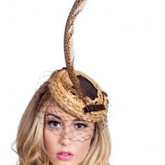 Hunt by Forme Millinery. This piece and more at http://www.fashionattheraces.com/store