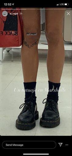 Leg Tattoos Small, Leg Tattoos Women, Cute Tiny Tattoos, Pretty Tattoos, Beautiful Tattoos, Simple Leg Tattoos, Word Tattoos, Body Art Tattoos, Sleeve Tattoos