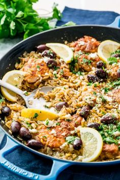 One Pot Greek Chicken Orzo