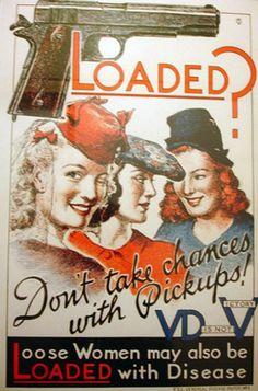 Funny Propaganda Poster WW2 | World War II Anti-VD Propaganda Posters