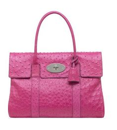 2015 New Cheap Mulberry Bayswater Bag Pink Ostrich Outlet Store. Sac  Princesse d0787a60392