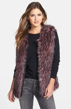 Via Spiga Faux Fur Vest (Online Only) available at #Nordstrom