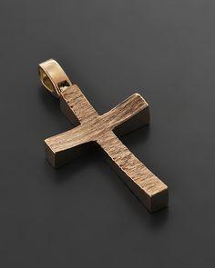 Σταυρός ροζ χρυσός Κ14 Wooden Crosses, Wall Crosses, Baby Baptism, Christening, Cross Jewelry, Cross Necklaces, Cross Art, Cross Paintings, Jewelry Design
