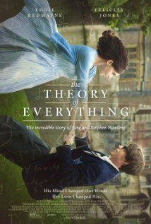 The Theory of Everything - In the 1960s, Cambridge University student and future physicist Stephen Hawking (Eddie Redmayne) falls in love with fellow collegian Jane Wilde (Felicity Jones). At 21, Hawking learns that he has motor neuron disease. Director: James Marsh. Genres: Biographical film, Drama