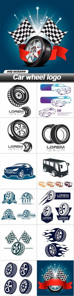 Car wheel logo