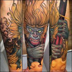#familyart #tattoo #barcelona #koan #sonwukong #monkeyking #hanuman