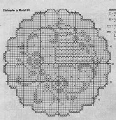 Filet Crochet Charts, Crochet Doily Patterns, Crochet Doilies, Cross Stitch Patterns, Crochet Toilet Roll Cover, Fillet Crochet, Cross Stitch Alphabet, Crochet Projects, Embroidery
